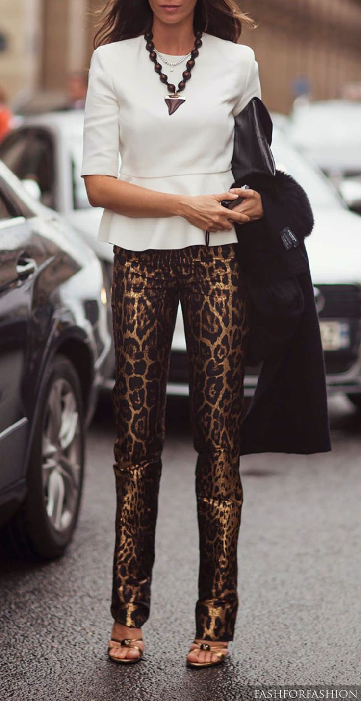 Animal print...adore this entire look