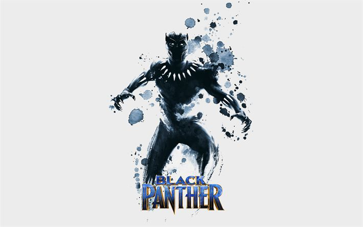 Download wallpapers Black Panther, poster, 2018 movie, superheroes, art