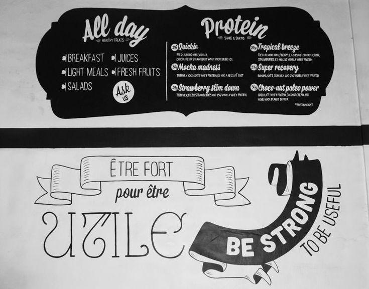 sign painting menu