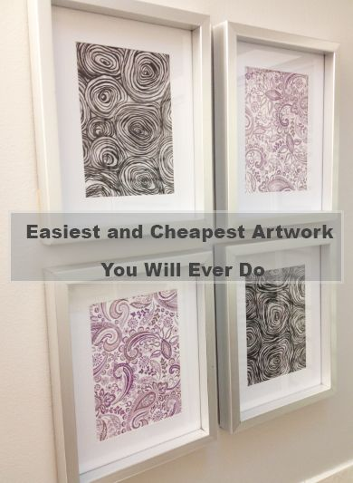 Easiest and Cheapest Artwork You Will Ever Do