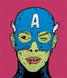 CAPI! : Capitán América un poco lastimado Ilustración Digital