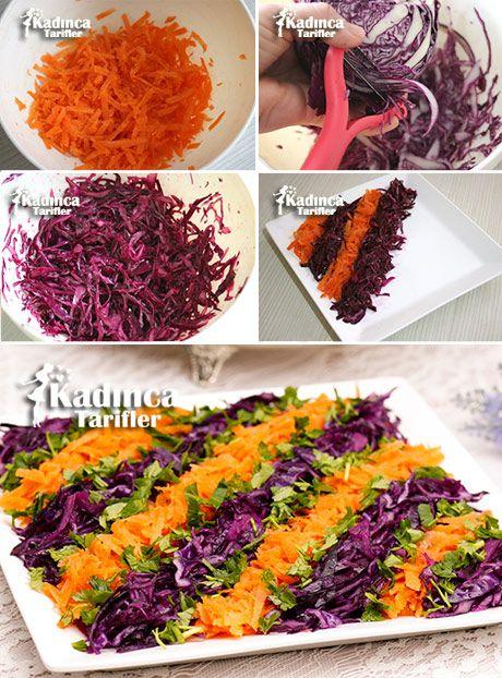 HAVUÇLU MOR LAHANA SALATASI TARİFİ http://kadincatarifler.com/havuclu-mor-lahana-salatasi-tarifi