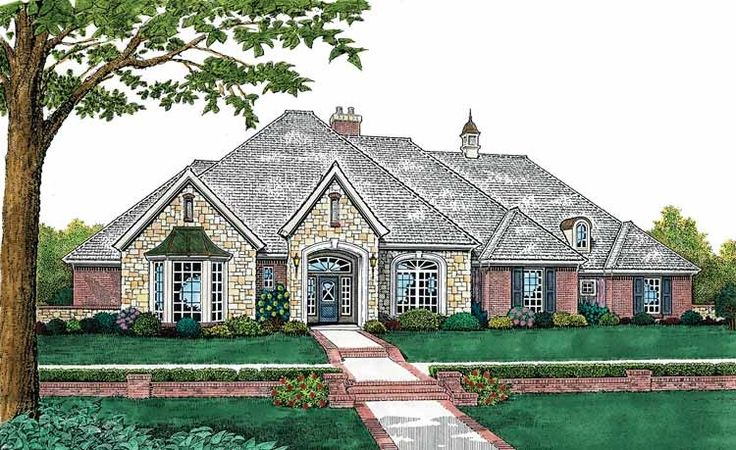 French Country House Plan With 2941 Square Feet And 4