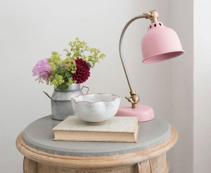 Mini Gaston Lamp   Small Pink Bedside Lamp   Loaf