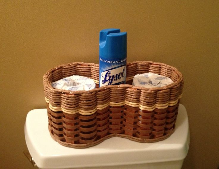 Toilet paper/air-freshener basket