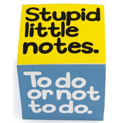 Stupid Little Notes Notepad Block from Sarah J Home Decor. $14.95