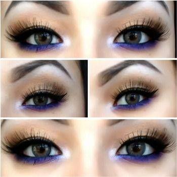make-up preto e azul