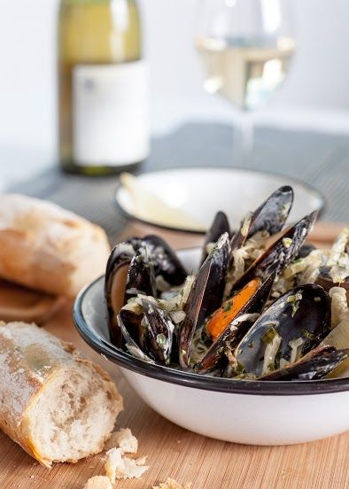 mule w sosie śmietanowo - winnym / mussels in cream - wine sauce / Concordia taste