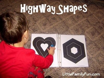 Little Family Fun: Highway Shapes