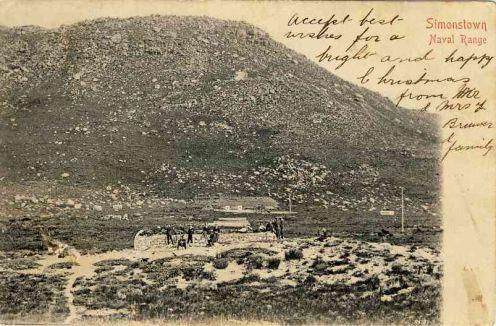 The Naval Range, Simon's Town, Vintage Cape Town postcard