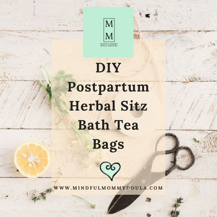 DIY Postpartum Herbal Sitz Bath Tea Bags – Mindful Mommy