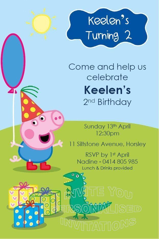 54 best peppa pig invitations images on pinterest | pigs, pig, Party invitations