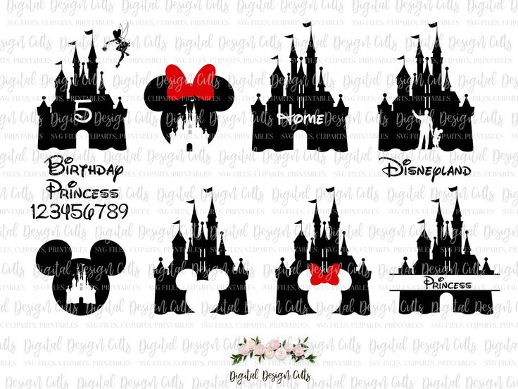 Disney Castle SVG, Disnes Castle Clipart, Disney and Mikki Mouse SVG, Disneyland SVG, Minni Mouse svg, Disney Princess svg, Home Disney by DigitalDesignCuts on Etsy https://www.etsy.com/listing/484167143/disney-castle-svg-disnes-castle-clipart