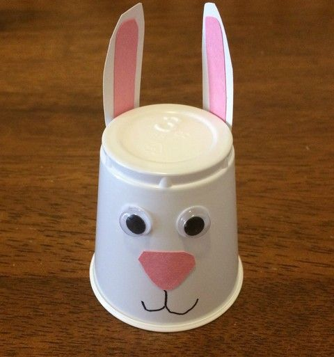 Plastic cup bunny simple easter craft