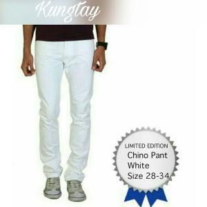 Size 28 29 30 31 32 33 34 Warna Putih Celana Chino Panjang Chinos Pants KG112 Ukuran S M L XL White