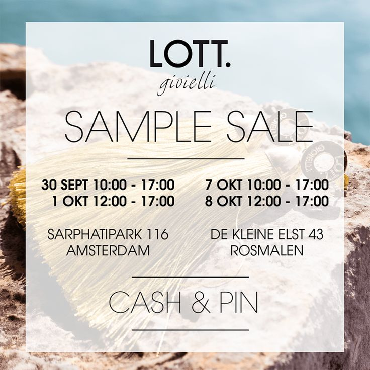 Sample Sale LOTT Gioielli. (Amsterdam) -- Amsterdam -- 30/09-01/10
