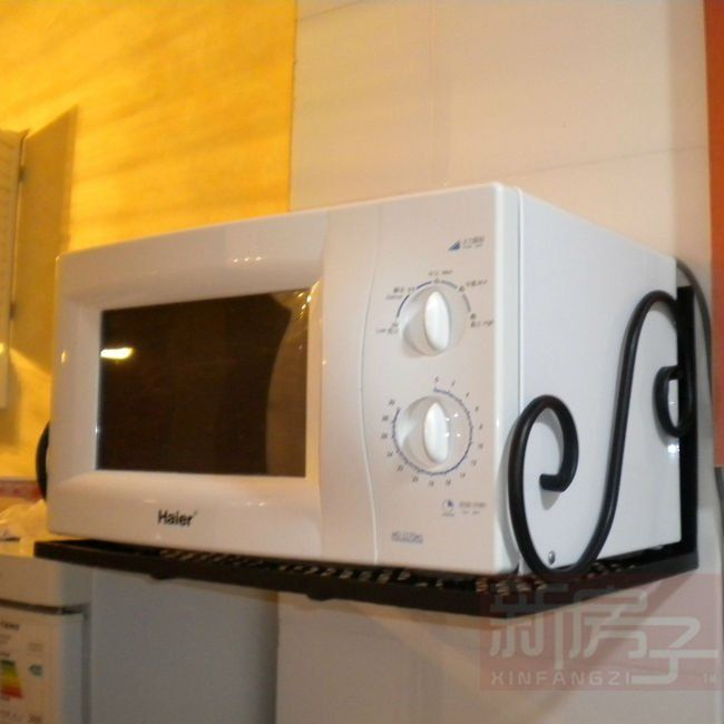 Microwave Iron Wall Mounted Microwave Oven Rack Firmly Jpg