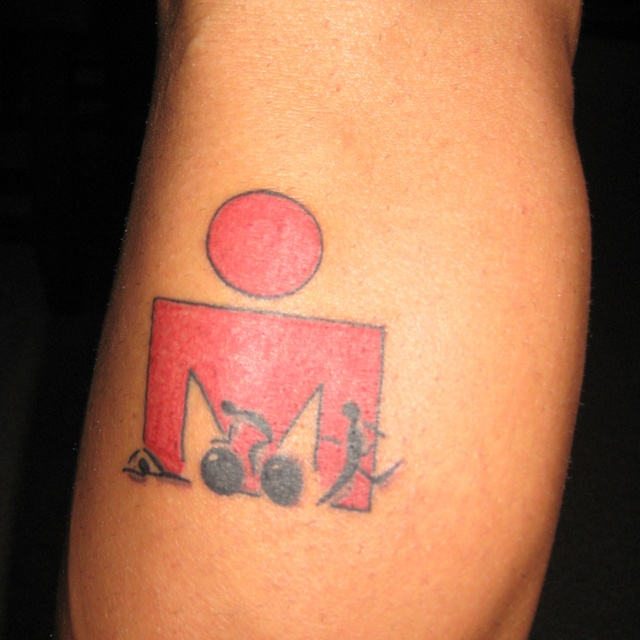 ironman tattoo, only tattoo I will ever get!