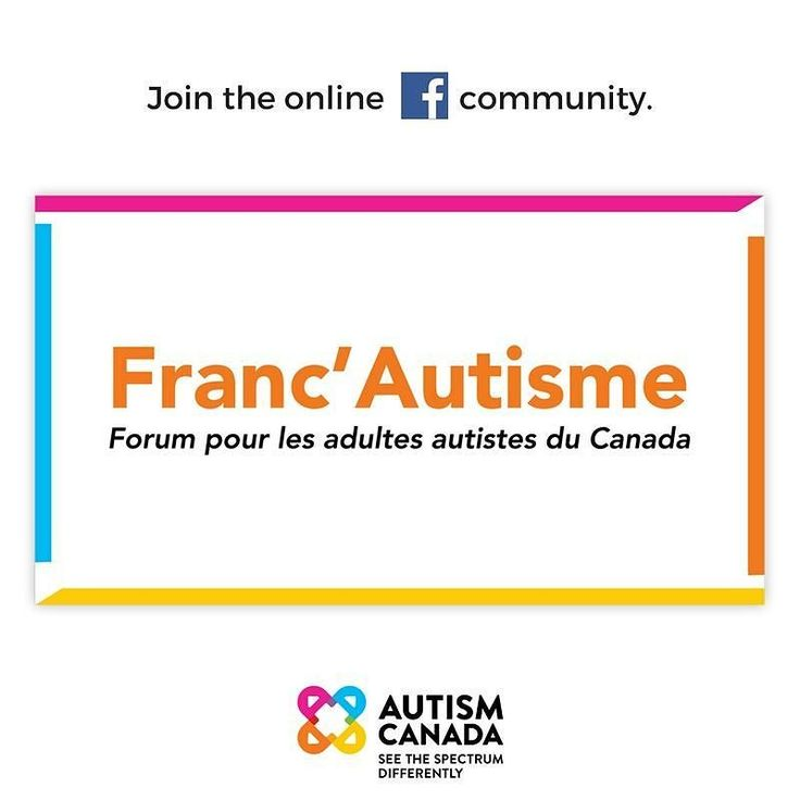 Autism Canada is proud to announce the launch of Franc'Autisme the French equivalent to ASD Central which is an online Facebook community specifically for Canadians (18 years or older) on the autism spectrum. This is a safe place to ask questions share experiences and get advice. Join Franc'Autisme today: http://ift.tt/2yGP29h