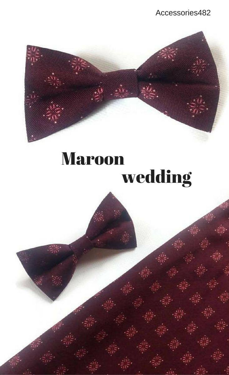 Best 25+ Maroon bow tie ideas on Pinterest | Groom ...