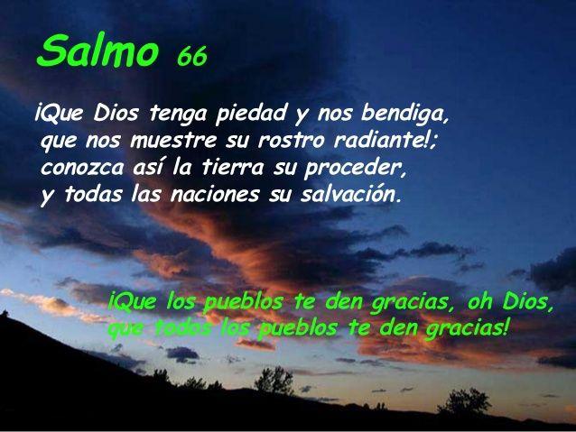 SALMOS: Salmo 67 (66)-Que todos los pueblos alaben al Señor