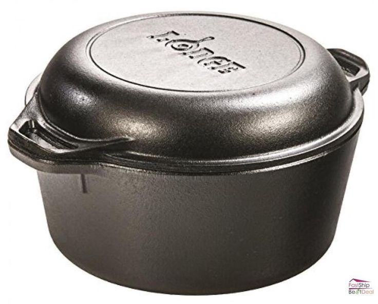 Lodge Dutch Ovens L8DD3 Double Dutch Oven and Casserole with Skillet Cover #Lodge