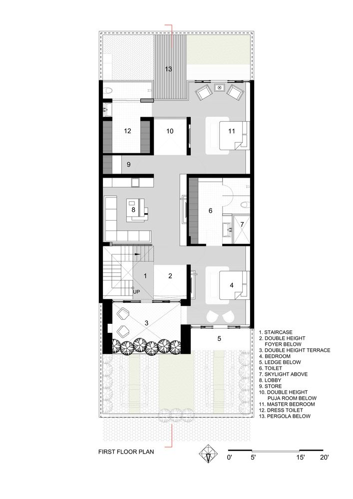 Gallery Of Sky Box House Garg Architects 26 In 2020 Box Houses House Layout Plans House Design Pictures