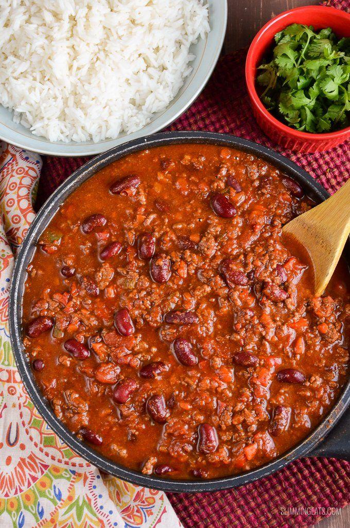 Syn Free Chilli Con Carne - an all time classic family friendly recipe. Pure comfort in a bowl, it's a dish you will make again and again.
