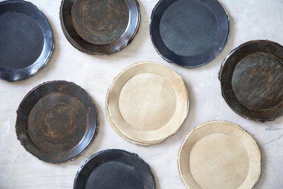 Ceramic PlateCake PlatesStoneware by 1220CeramicsStudio on Etsy
