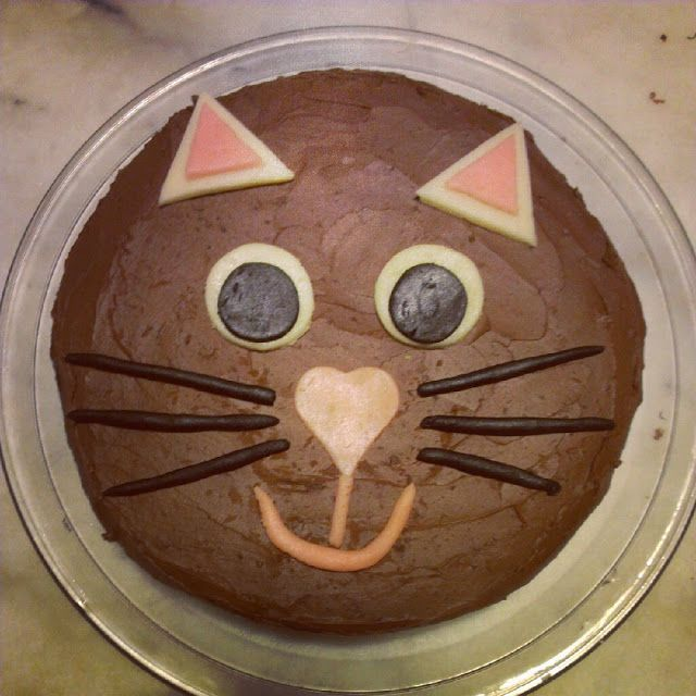 Gateau en forme de chat facile