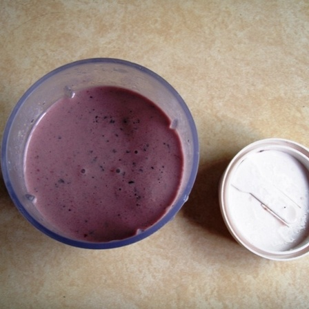 A. Low-Fat, Low-Cal Berry Whey Protein Smoothie - Alli Rainey