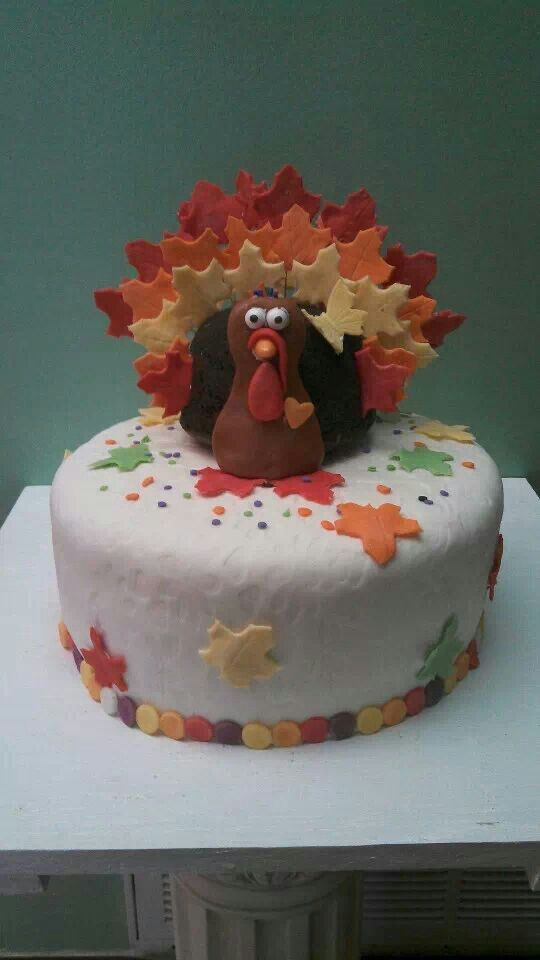 Thanksgiving Fondant Cupcakes