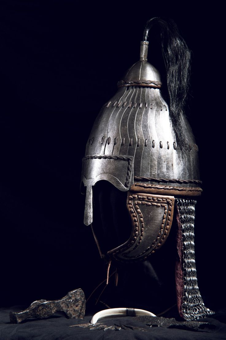 Niederstotzingen helmet Шлем Нидерштотцинген Langobard warrior with Avar lamellar helmet Alemanni or Alamanni