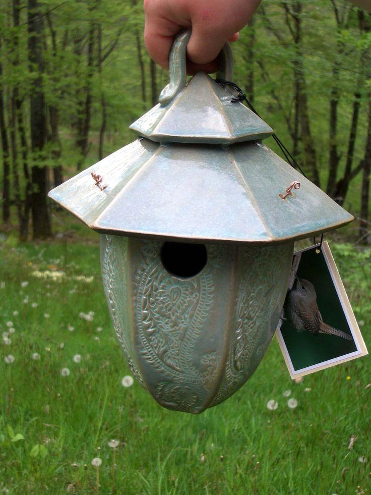 www.abbydreyer.com ceramic birdhouse - SOLD