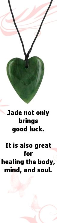 Did you know that wearing Jade can help you attract good luck and good health. Not only is a beautiful stone but it also has a strong Ki that can radiate through your whole body when you wear it.