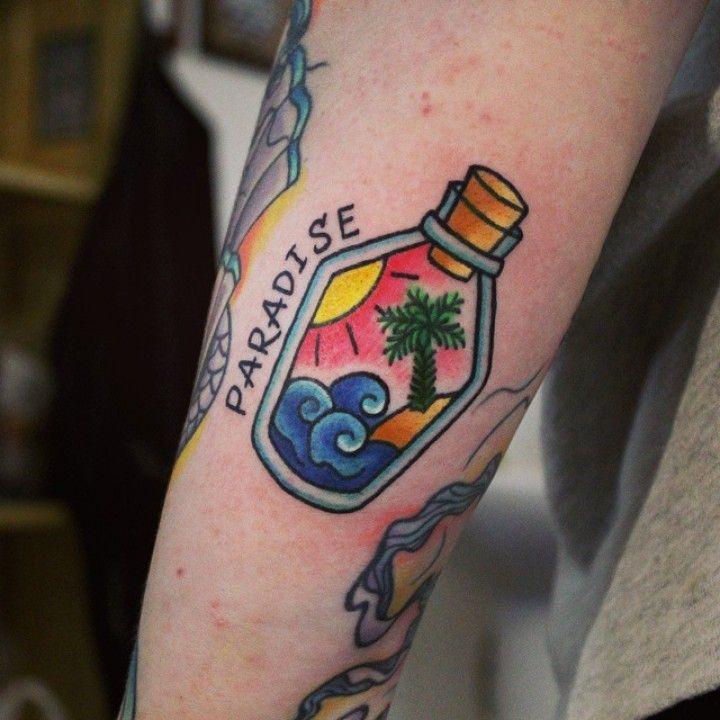 traditional beach tattoo - Google Search