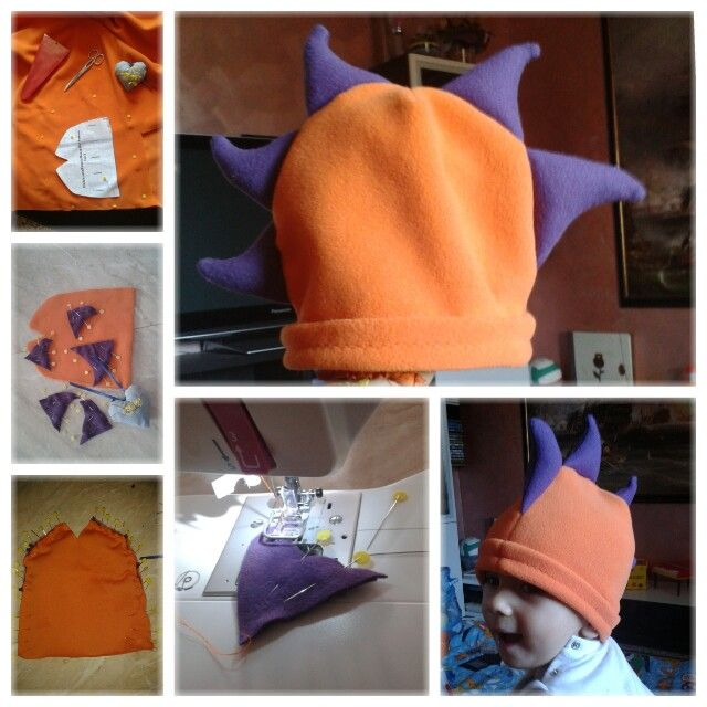 Fleece dragon hat :D