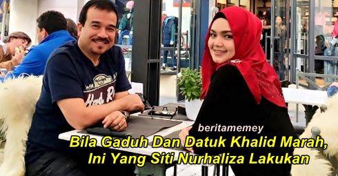 Bila Bergaduh Dan Suami Sedang Marah Ini Yang Dato' Siti Nurhaliza Lakukan   Bila Bergaduh Dan Suami Sedang Marah Ini Yang Dato' Siti Nurhaliza Lakukan  Penyanyi Datuk Siti Nurhaliza kini dah berkahwin selama 10 tahun dengan Datuk Seri Khalid. Baru-baru ini Datuk Siti kongsikan petua dan rahsia rumah tangganya. Dalam rumah tangga pasti adanya sedikit salah faham dan bagi Siti ketika inilah suami atau isteri hendaklah bertolak-ansur. Kata Siti dia dan suami akan selesaikan masalah secepat…