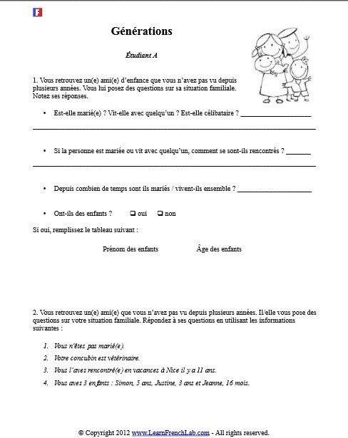 30 best french worksheets images on pinterest french worksheets french language and free. Black Bedroom Furniture Sets. Home Design Ideas