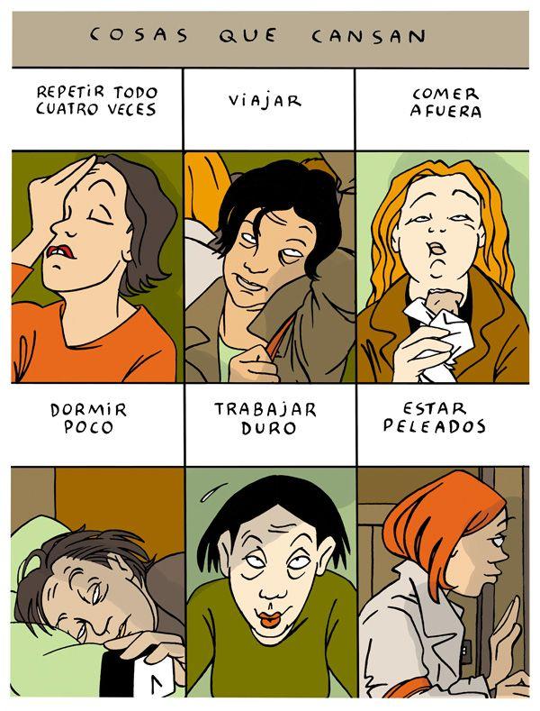 Cosas que cansan