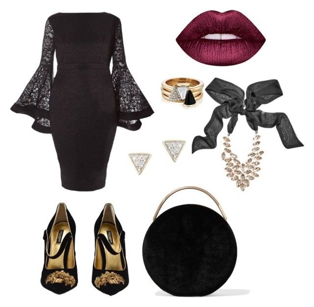 """""""AN DA's style #4"""" by an-da-i on Polyvore featuring Dolce&Gabbana, Lime Crime, Brixton, GUESS by Marciano, Adina Reyter and Eddie Borgo"""