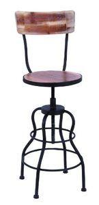 Old Look Wood Bar Chair