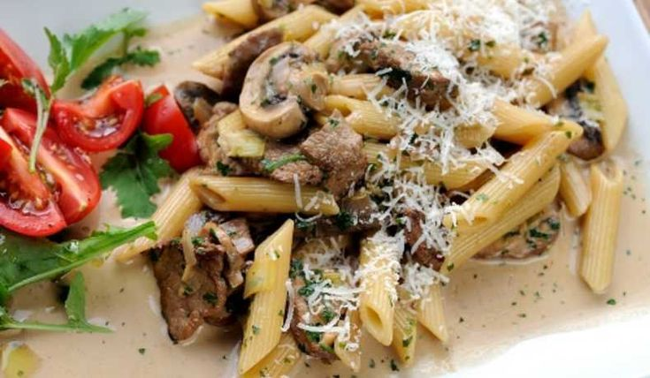 Pasta med oxfile - Recept