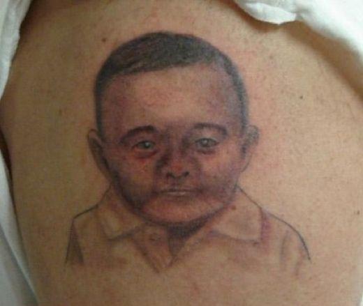 Misslyckade tatueringar på barn