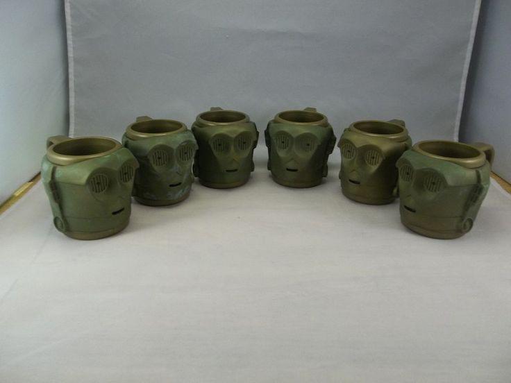 Set of 6 Star Wars C3PO plastic mugs, Applause, 1997