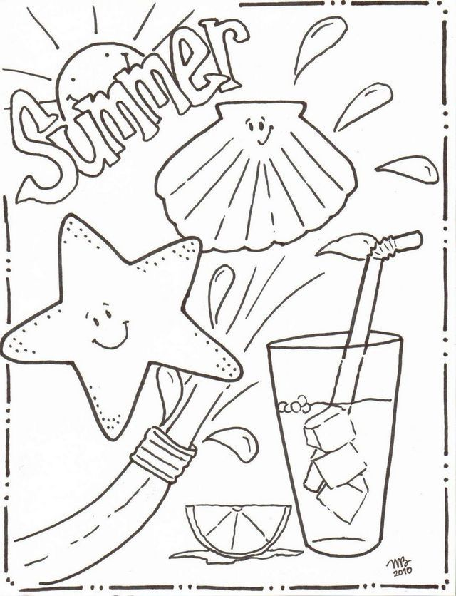 Pin By Sammie Harrison On Pattern Ideas Cool Coloring Pages Summer Coloring Sheets Beach Coloring Pages