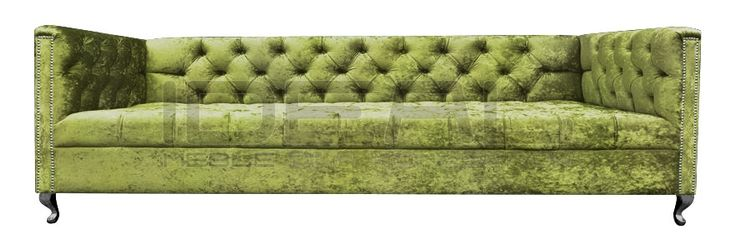 Chesterfield - Sofa Chesterfield London Ludwik - IdealMeble  sofa chesterfield, zielona, oliwkowa sofa, styl angielski, green, olive