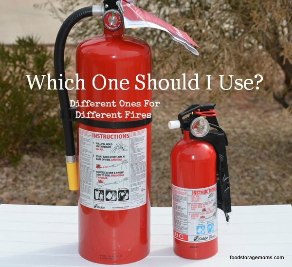 Fire Extinguishers by Food Storage Moms