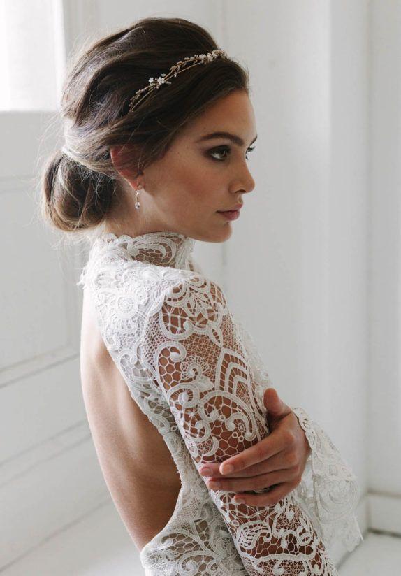 Best 25 bridal crown ideas on pinterest gold crown crowns and blanchett delicate wedding crown tania maras junglespirit Gallery
