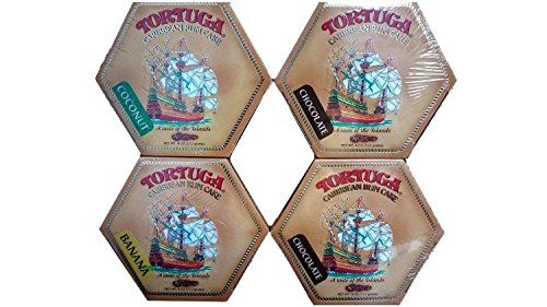Tortuga Rum Cake Pick your flavors 4Ounce Cake 4 Pack Mix From Original Golden  Coconut Banana Pineapple Key Lime Chocolate *** Visit the image link more details.